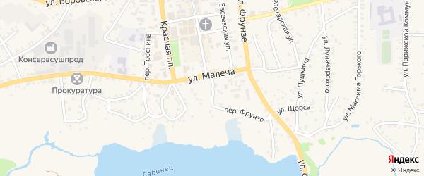 Улица Малеча на карте Стародуб с номерами домов