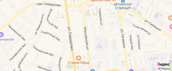 Московская улица на карте Стародуб с номерами домов