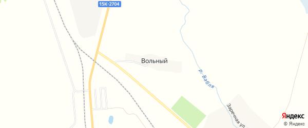 Карта Вольного поселка в Брянской области с улицами и номерами домов