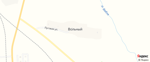 Луговая улица на карте Вольного поселка с номерами домов