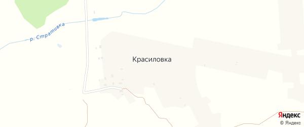 Центральная улица на карте поселка Красиловки с номерами домов