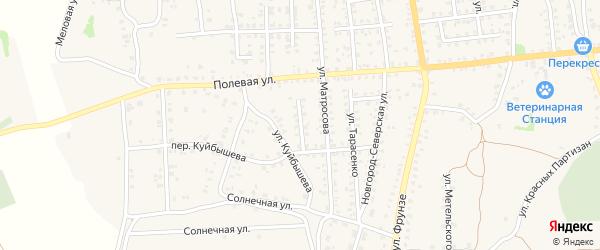 Переулок Матросова на карте Стародуб с номерами домов