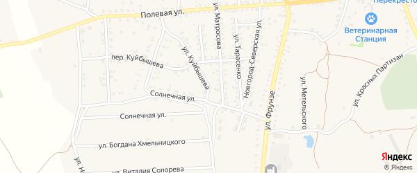 Улица Куйбышева на карте Стародуб с номерами домов