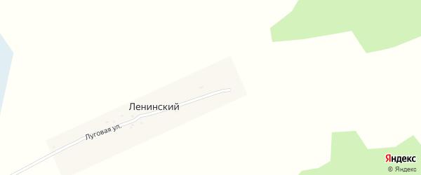 Луговая улица на карте Ленинского поселка с номерами домов