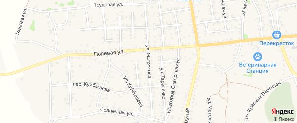 Улица Матросова на карте Стародуб с номерами домов