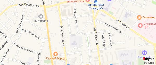 Северная улица на карте Стародуб с номерами домов