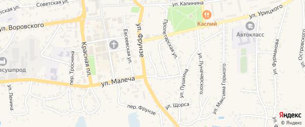 Мирный переулок на карте Стародуб с номерами домов