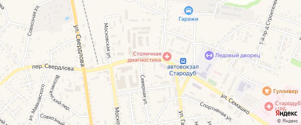 Территория ГСК 2 ул Семашко на карте Стародуб с номерами домов