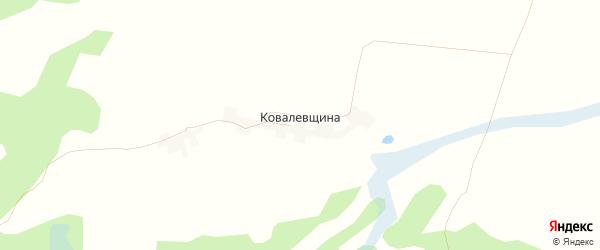 Карта поселка Ковалевщина в Брянской области с улицами и номерами домов