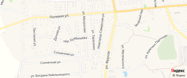 Улица Тарасенко на карте Стародуб с номерами домов