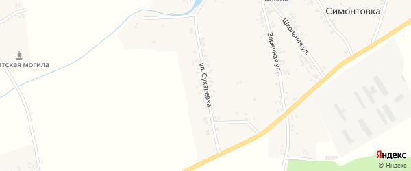 Улица Сухаревка на карте села Симонтовки с номерами домов