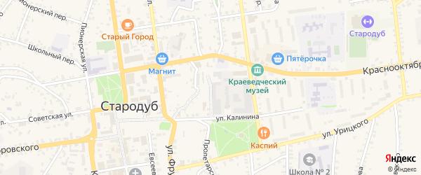 Переулок Чкалова на карте Стародуб с номерами домов