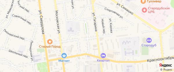 Северный проезд на карте Стародуб с номерами домов