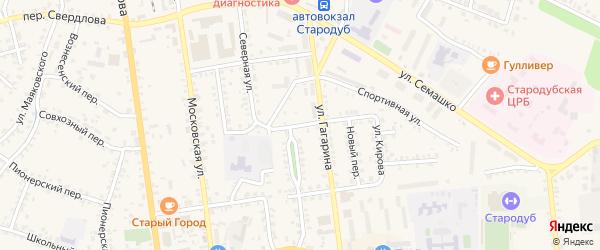 Новая улица на карте Стародуб с номерами домов