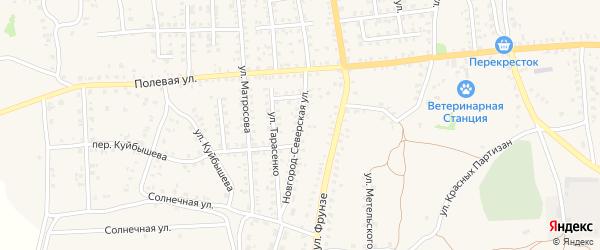 Новгород-Северская улица на карте Стародуб с номерами домов