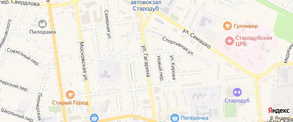 Улица Гагарина на карте Стародуб с номерами домов