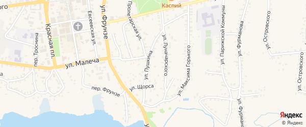 Улица Пушкина на карте Стародуб с номерами домов
