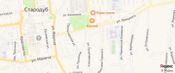 Улица Луначарского на карте Стародуб с номерами домов
