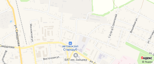 Территория БГ пл Красноармейская 51-а на карте Стародуб с номерами домов