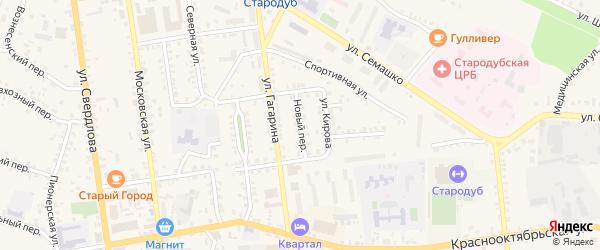 Новый переулок на карте Стародуб с номерами домов