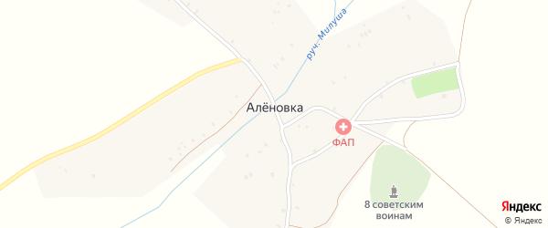 Совхозный переулок на карте деревни Аленовки с номерами домов