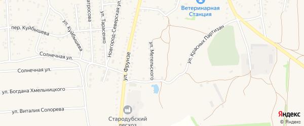 Улица Метельского на карте Стародуб с номерами домов
