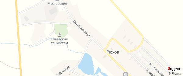 Октябрьская улица на карте села Рюхова с номерами домов