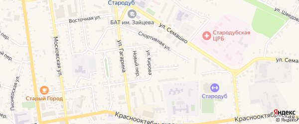 Улица Кирова на карте Стародуб с номерами домов