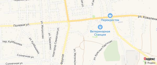 Зеленый переулок на карте Стародуб с номерами домов