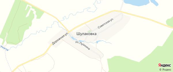 Карта деревни Шулаковки в Брянской области с улицами и номерами домов
