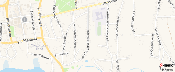 Улица Горького на карте Стародуб с номерами домов