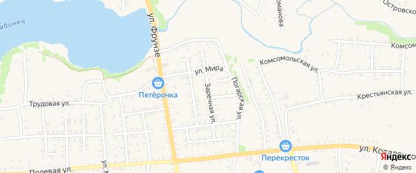 Заречная улица на карте Стародуб с номерами домов