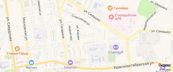Переулок Кирова на карте Стародуб с номерами домов