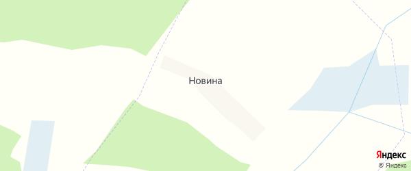 Дачная улица на карте хутора Новина с номерами домов