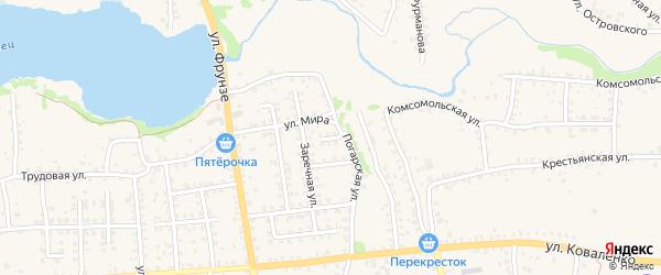 Погарский переулок на карте Стародуб с номерами домов