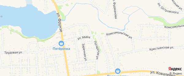 Погарская улица на карте Стародуб с номерами домов