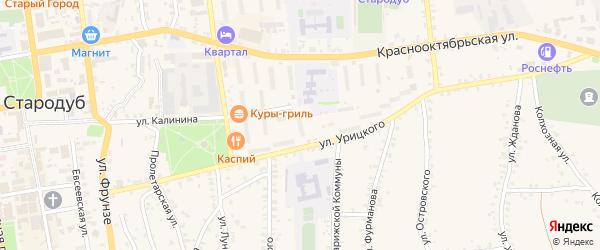 Территория БГ ул Калинина 16 на карте Стародуб с номерами домов