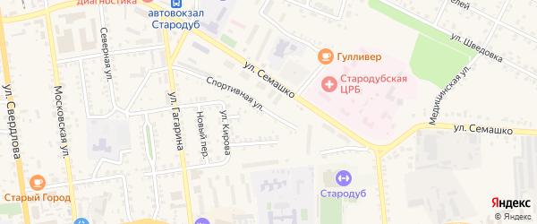 Спортивная улица на карте Стародуб с номерами домов