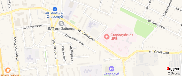 Улица Семашко на карте Стародуб с номерами домов