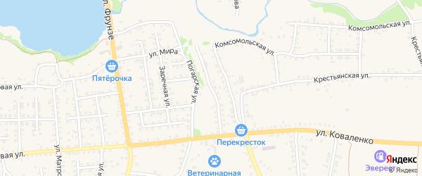 Улица Металлистов на карте Стародуб с номерами домов