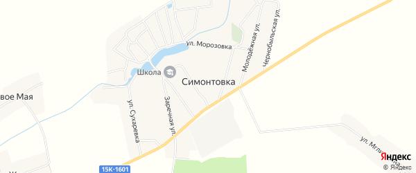 Карта села Симонтовки в Брянской области с улицами и номерами домов