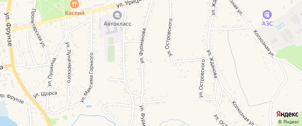 Улица Фурманова на карте Стародуб с номерами домов