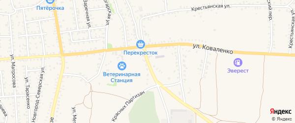 Улица Красных Партизан на карте Стародуб с номерами домов