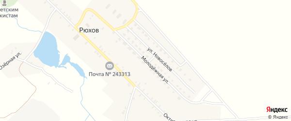 Молодежная улица на карте села Рюхова с номерами домов