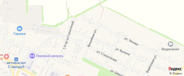 Вишневая улица на карте Стародуб с номерами домов
