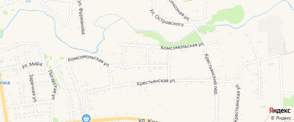 2-я Комсомольская улица на карте Стародуб с номерами домов