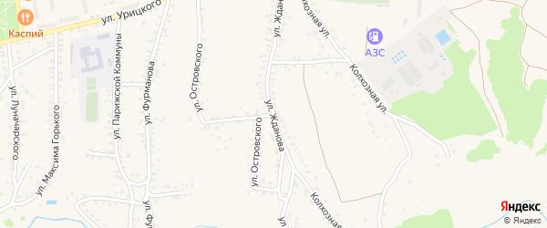 Улица Островского на карте Стародуб с номерами домов