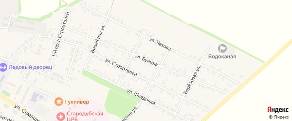 Улица Бунина на карте Стародуб с номерами домов