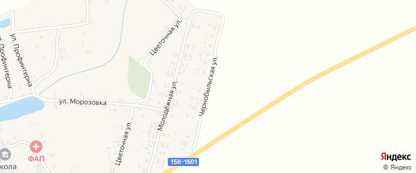 Чернобыльская улица на карте села Симонтовки с номерами домов