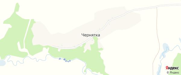 Цветочная улица на карте деревни Чернятки с номерами домов